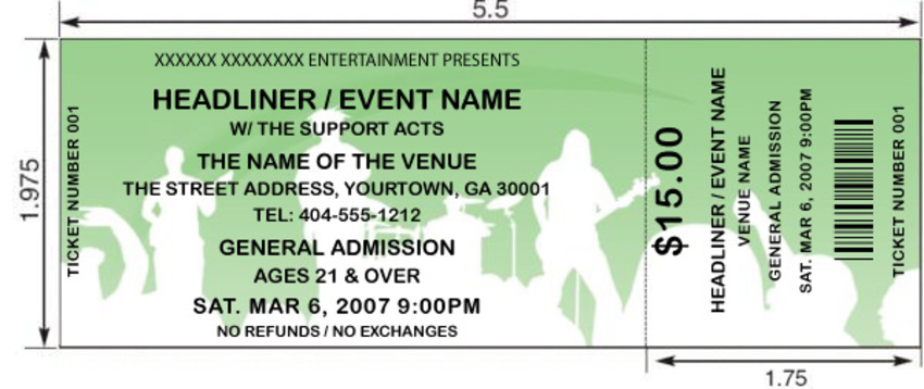 orange concert tickets by freshtix ticket printing