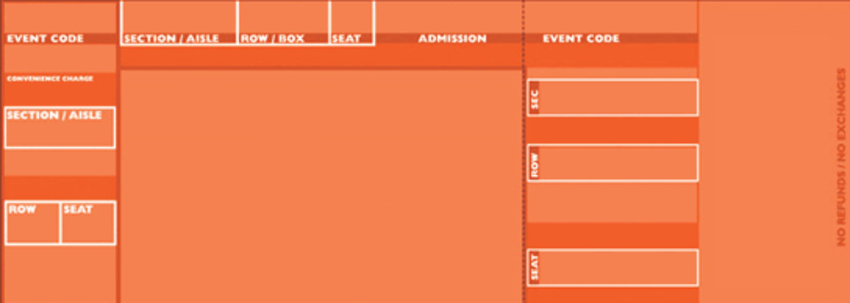Orange Official Style Tickets – Sports Ticket Template