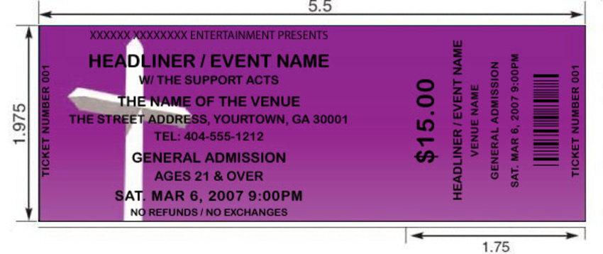 Purple Cross Tickets By Freshtix Ticket Printing