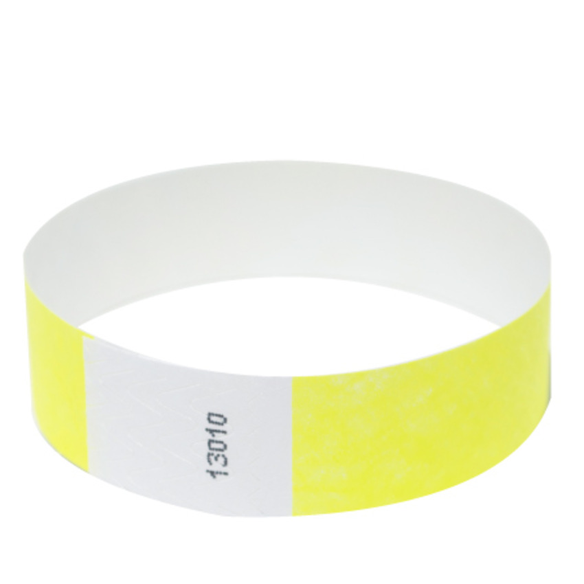 Neon Yellow Tyvek Event Wristbands