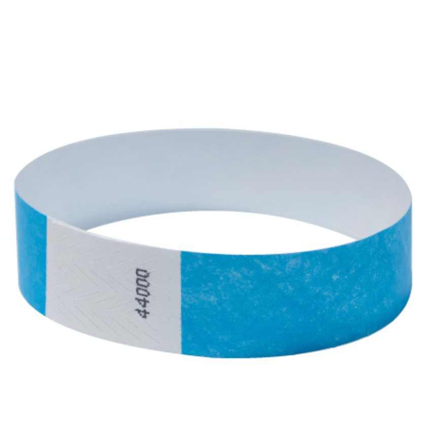 Bright Blue Tyvek Event Wristbands