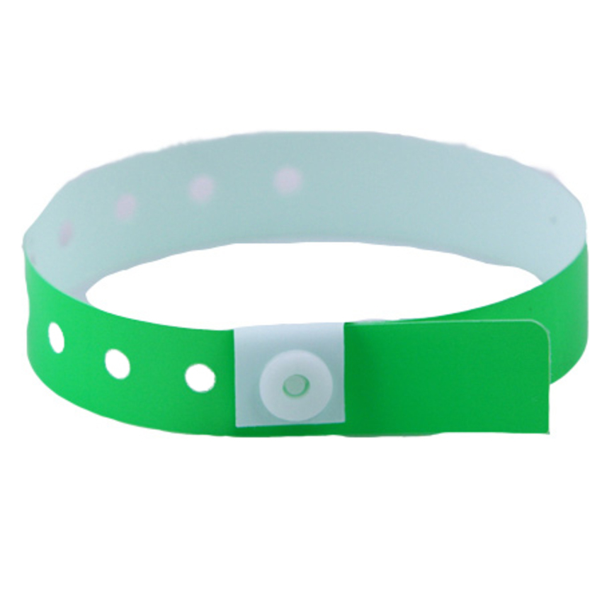 Green plastic wristbands