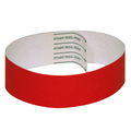 Bright Red Tab-free Tyvek wristbands