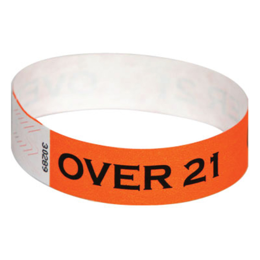 Orange Over 21 Wristbands