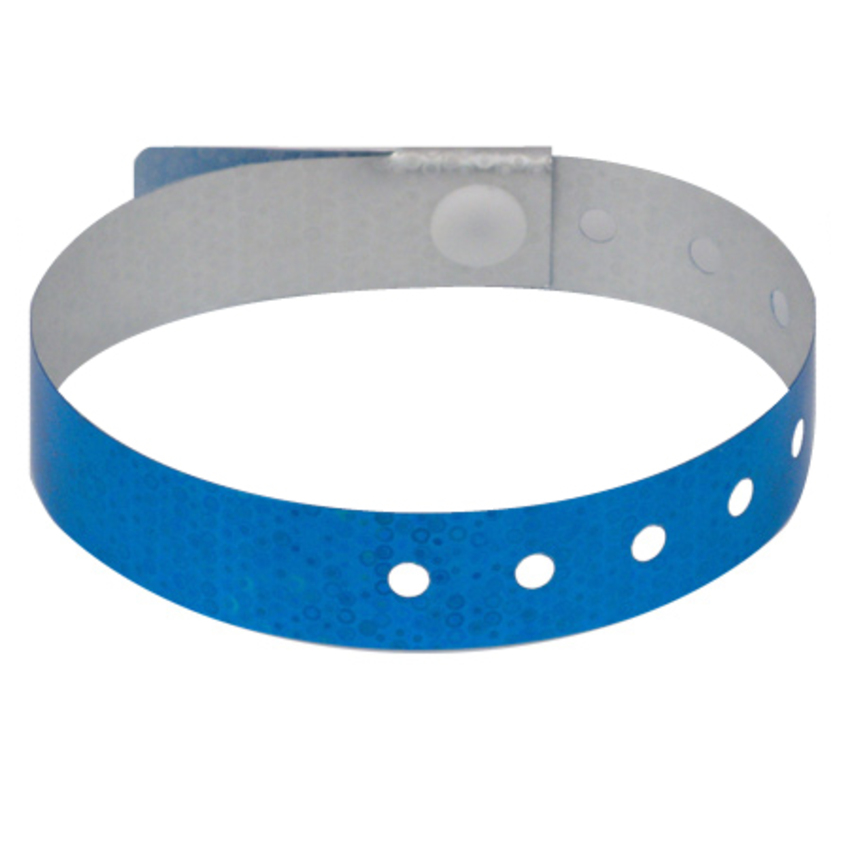 500 Blue Plastic Holographic Wristbands