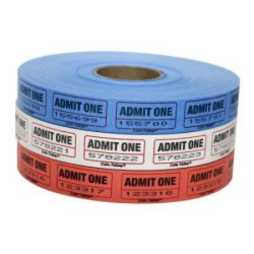 "2000ct. ""ADMIT ONE"" Roll Tickets"