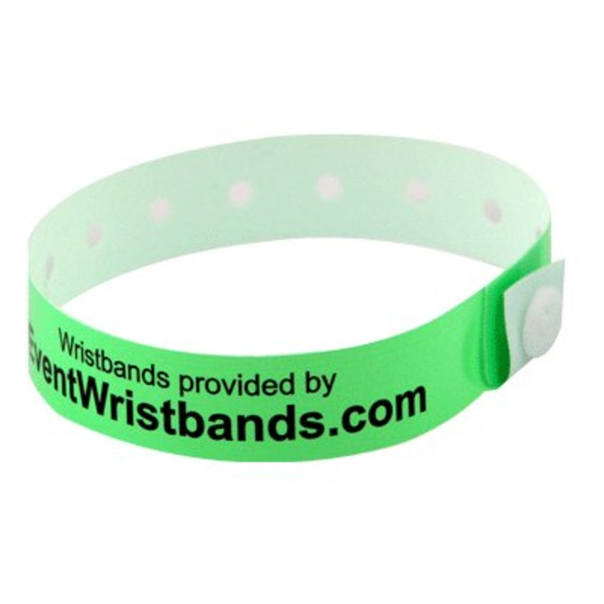 Custom Plastic Wristbands. Add your own text and/or logo
