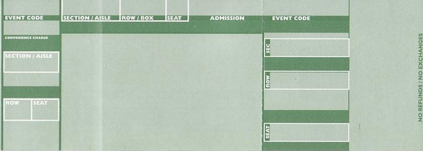 "Green ""official' style tickets"
