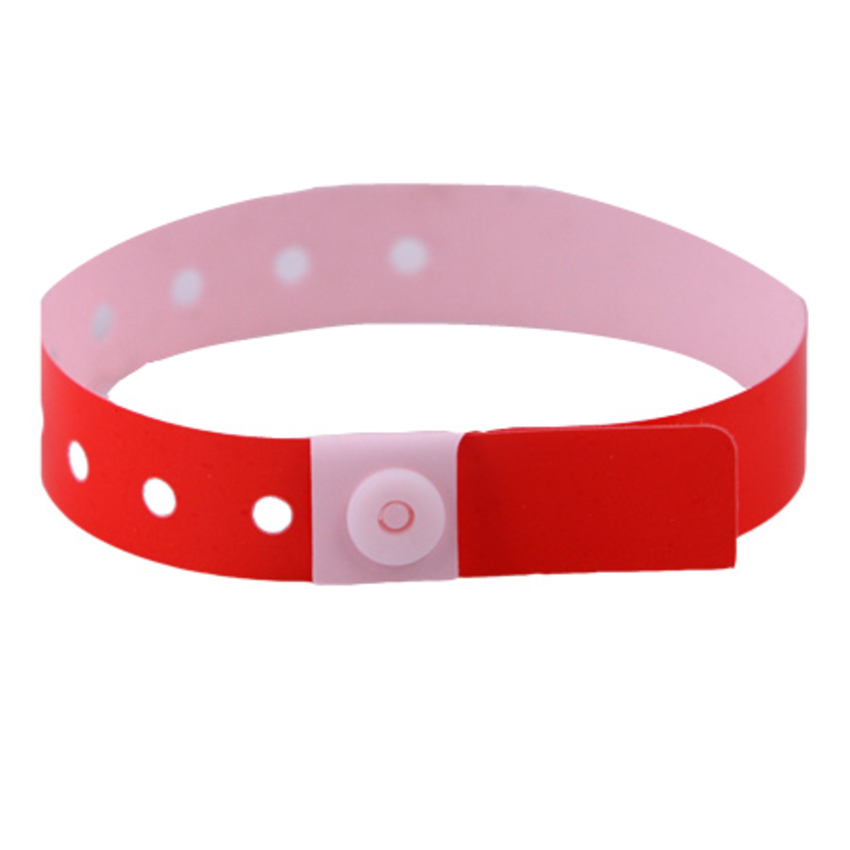 Bright Red Plastic Wristbands