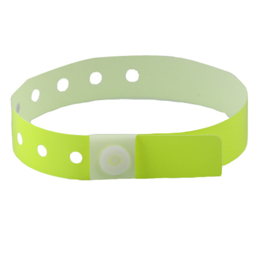 Neon Yellow Plastic Wristbands
