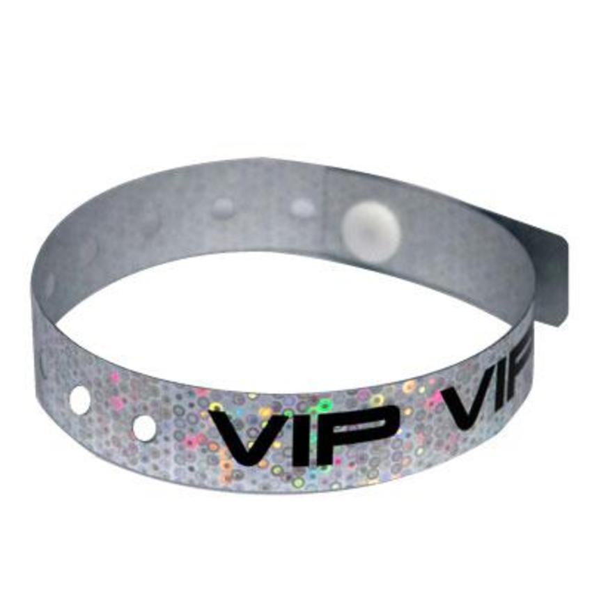 Silver *VIP* Holographic Wristbands