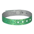 100 Pack Neon Green Plastic Holographic Wristbands
