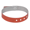 100 Pack Red Plastic Holographic Wristbands