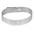 100 Silver Plastic Holographic Wristbands