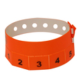 500 Neon Orange Tear-Off 5-Tab Plastic Event Wristbands