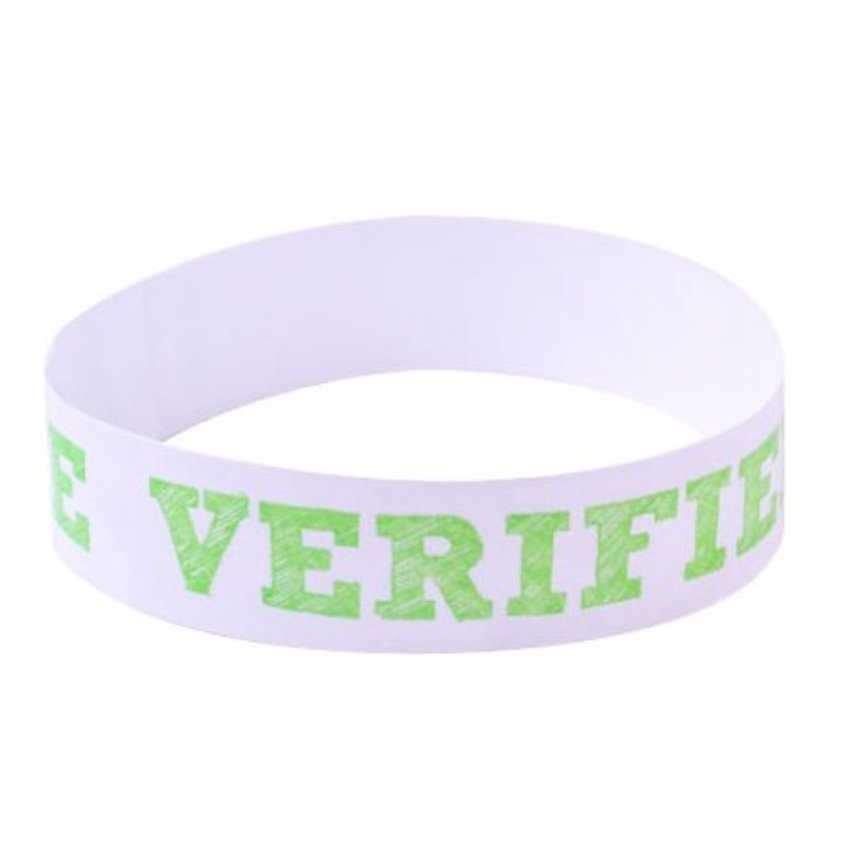 Green Age Verified Wristbands