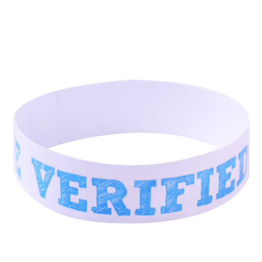 Blue Age Verified Wristbands