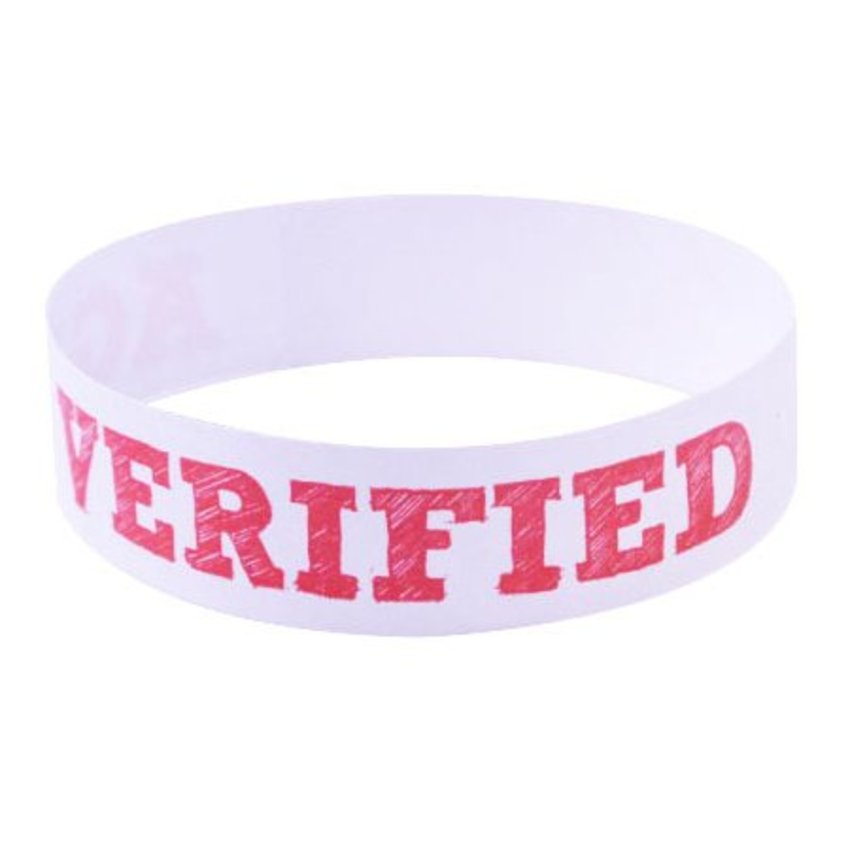 Red Age Verified Wristbands