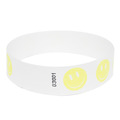 Neon Yellow Happy Face Tyvek Event Wristbands