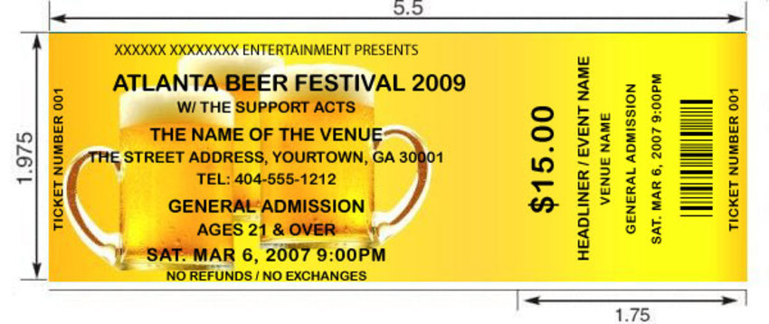 beer theme tickets 1