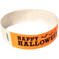 Orange Happy Halloween Wristbands