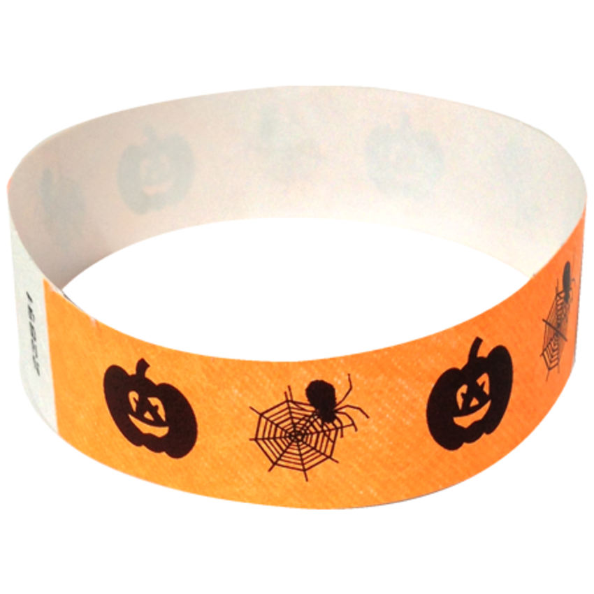 Orange Spiderweb Wristbands