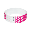 Neon Pink Honeycomb Tyvek Wristbands