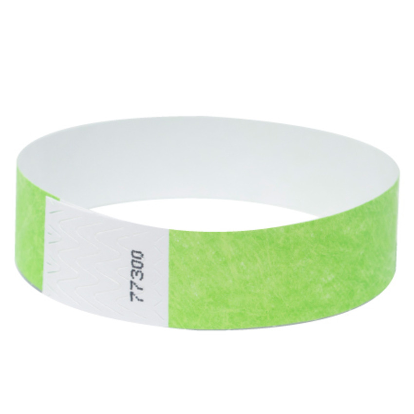 Neon Green Tyvek Event Wristbands