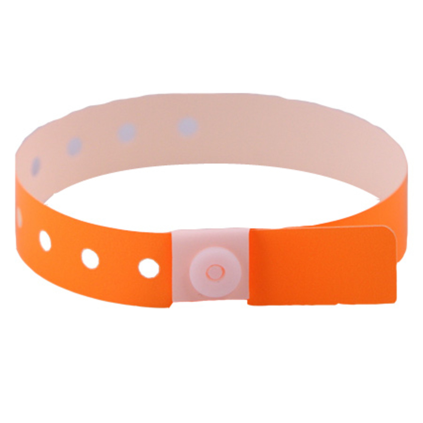 Neon Orange Plastic Wristbands
