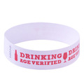 Red Drinking Age Verified Tyvek Wristbands