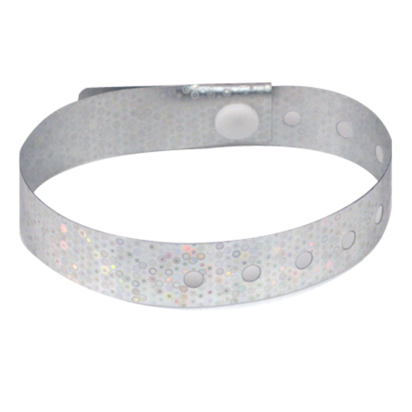 500 Silver Plastic Holographic Wristbands