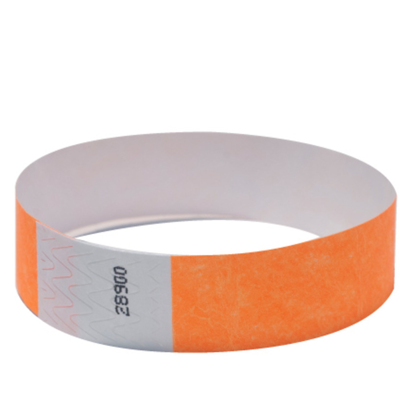 Neon Orange Tyvek Event Wristbands