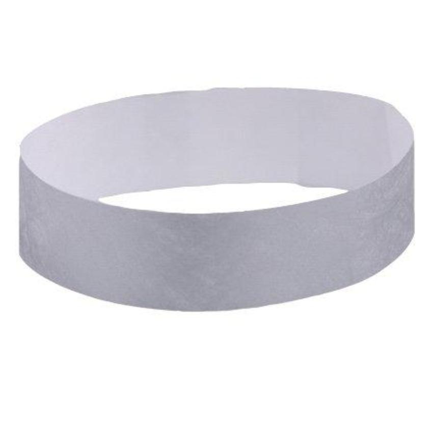 Silver Tyvek wristbands