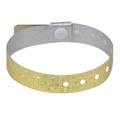 100 Gold Plastic Holographic Wristbands