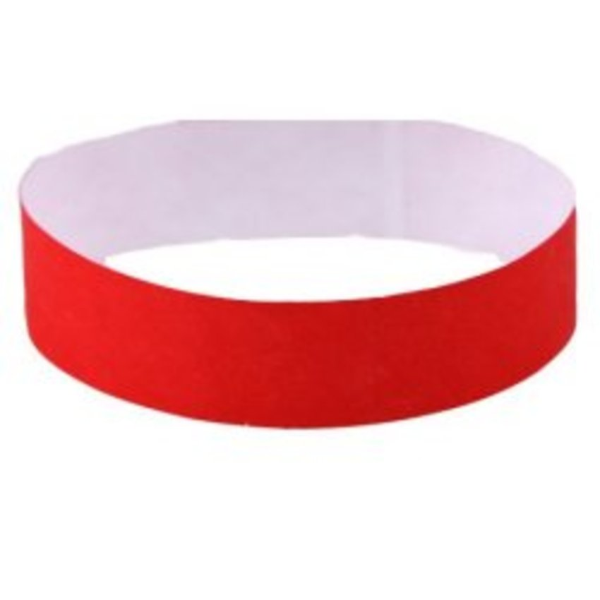 Bright Red Tyvek wristbands