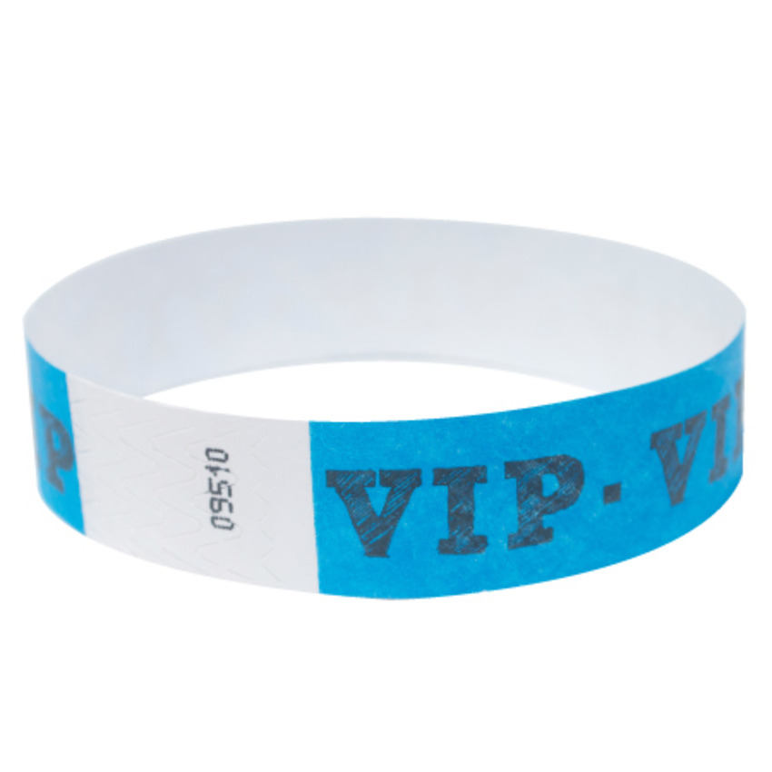 Neon Blue VIP Tyvek Event Wristbands
