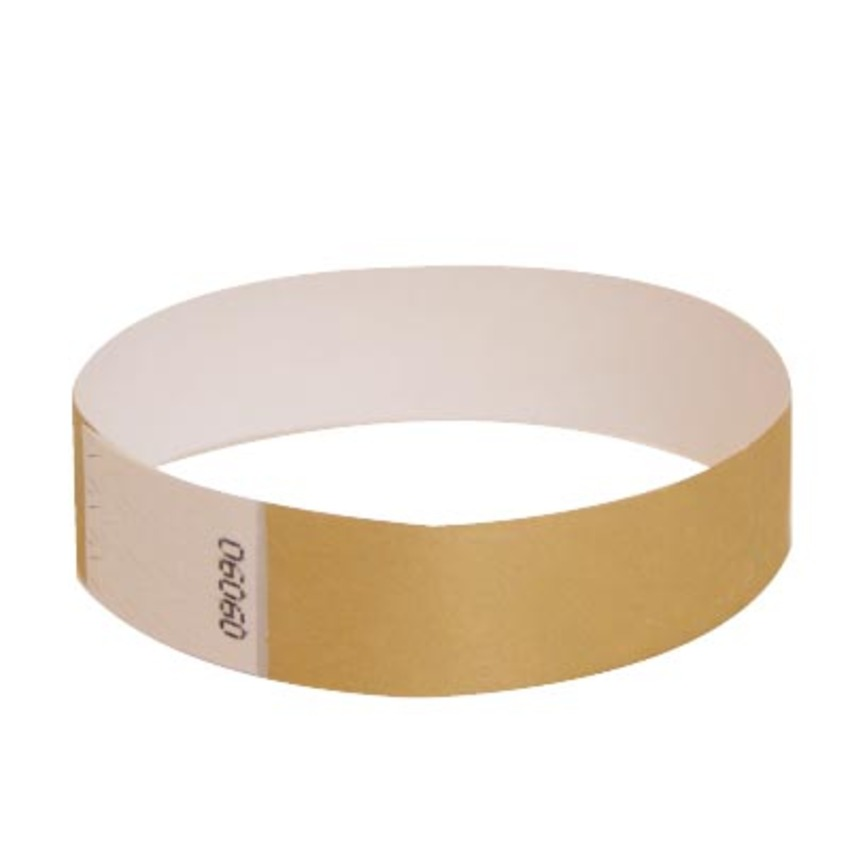 Metallic Gold Tyvek Event Wristbands