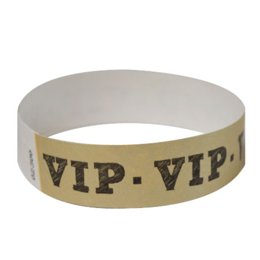 Gold VIP Tyvek Event Wristbands