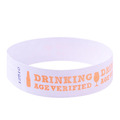 Neon Orange Drinking Age Verified Tyvek Event Wristbands