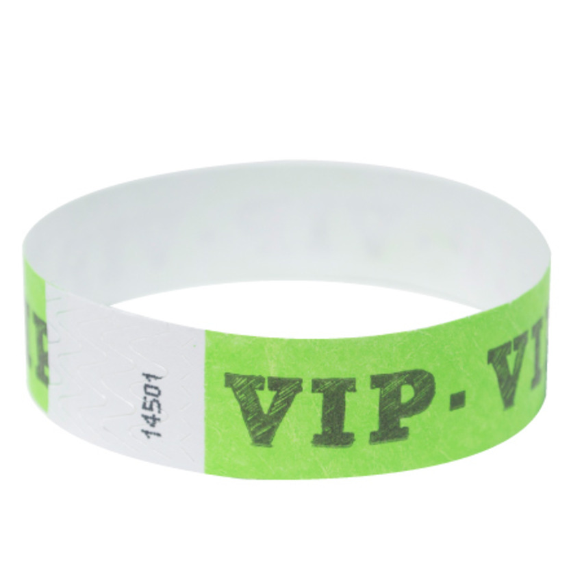 Neon Green VIP Tyvek Event Wristbands