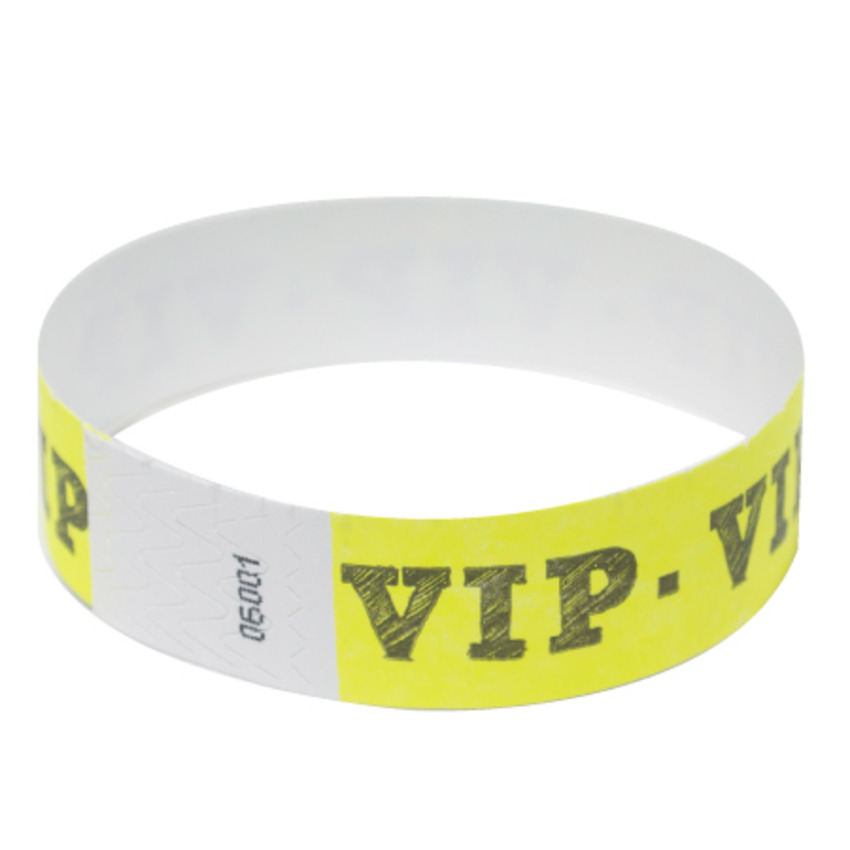 Neon Yellow VIP Tyvek Event Wristbands