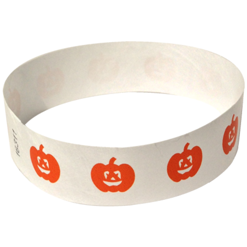 Orange Pumpkin Tyvek Wristband