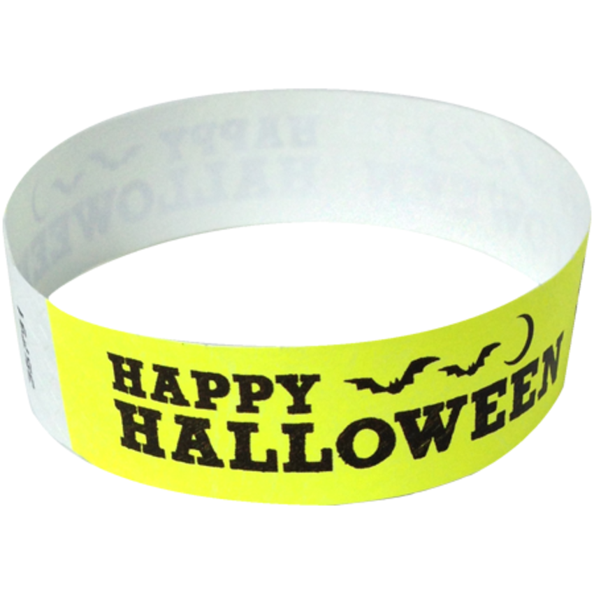 Yellow Happy Halloween Wristbands