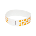 Neon Orange Dots Tyvek Wristbands