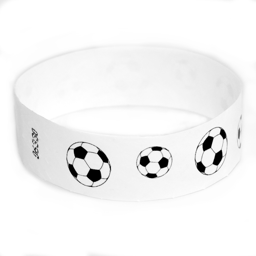 500 Soccer Ball Tyvek Wristbands