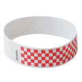 Neon Red Checker Tyvek Event Wristbands