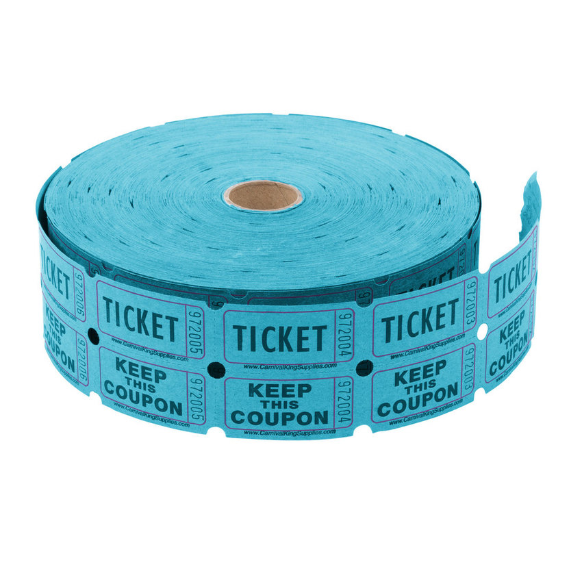 2000 ct. Double Roll Raffle tickets